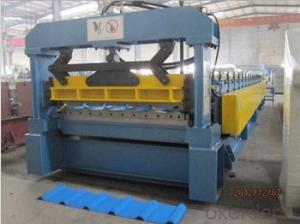 Q235 Color Steel Step Tile Roll Forming Machine with CE Certificate