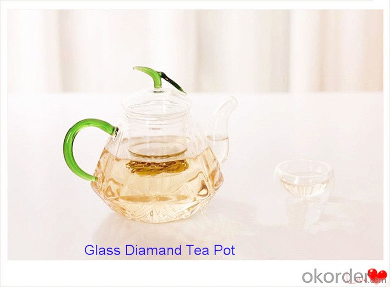 Glass Tea Diamond Pot High High Borosilicate Glass