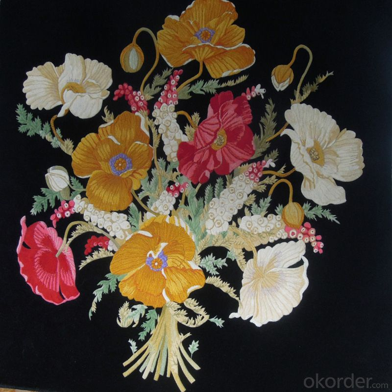 New Zealand Wool Rug Hand Embroidered  Cut Pile with High Quality