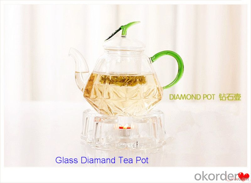 Glass Tea Pot Crystal High High Borosilicate Glass 800ml