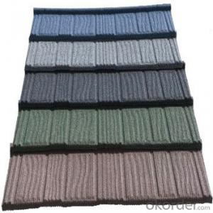 Stone Coated Metal Roofing Tile Red Green Weather Extremes Resistance