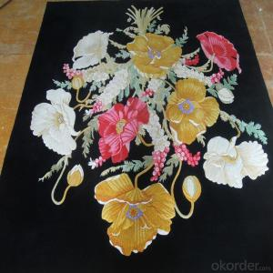 New Zealand Wool Carpet Hand Embroidered  Cut Pile with High Quality