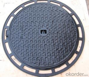 Manhole Covers EN124 GGG40 Ductule Iron C250 Bitumen