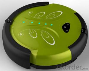 Cyclonic Robot Vacuum Cleaner with Remote Control and Schedule Time Setting Fuction