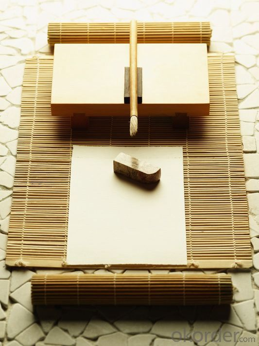White Coil Bamboo Screening Window Blind