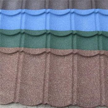 Stone Coated Metal Roofing Tile Colorful Stone Coated New Products Factory