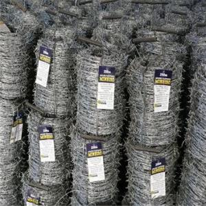 Galvanized and PVC Coated Barbed Wire Factory Price Hot Seller