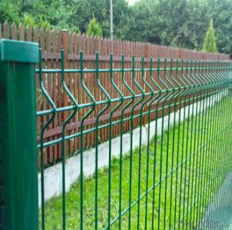 Buy Powder Coated Triangle Wire Mesh Fence Price Size