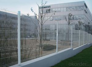 White Color Coated Welded Wire Mesh  Fence