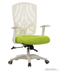ZHSMC-06P Swivel Office Chair With Curved Mesh Backrest and Plating Legs