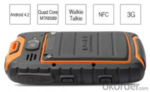 4.0 inch Rugged Bar PhoneMTK6589 Quad core Android Walkie Talkie Phone