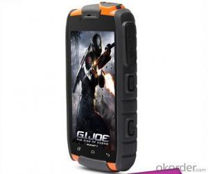 4.0 inch Orange Tough Military Custom Android Mobile Phone Best Rugged Bar Phone