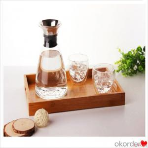 Glass Jar and Tumbler Set,Colored Water and Juice Storage,Drinking glass pot