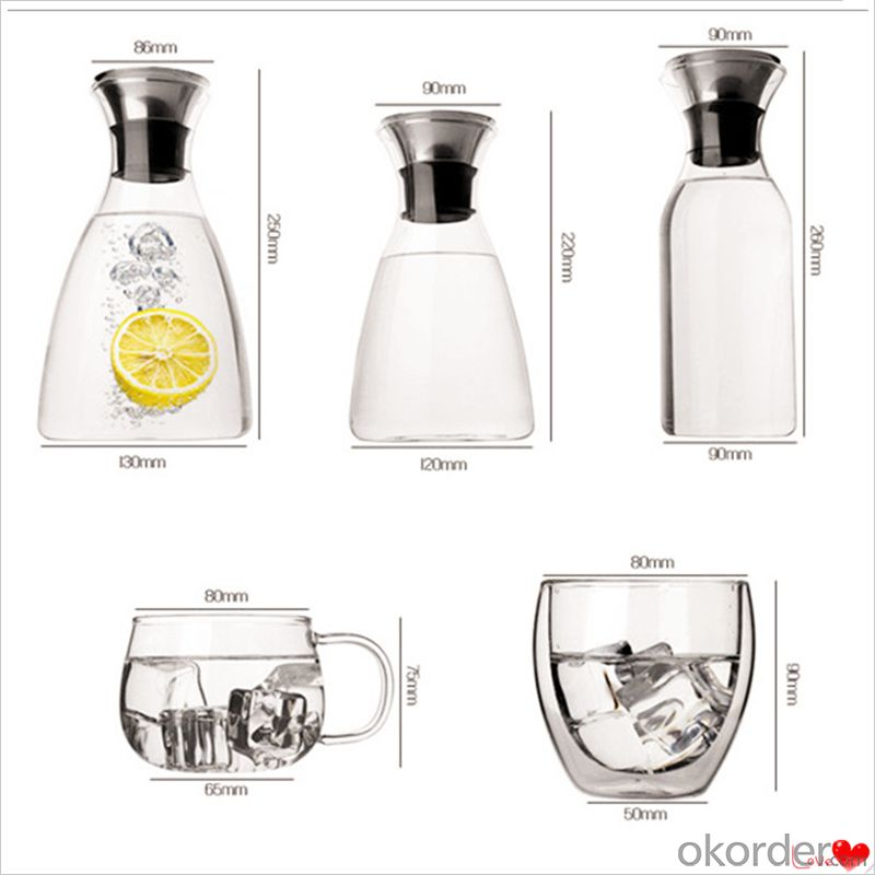 Glass Pot Manufacturer High Borosilicate Glass with Drink Pot 1000ml