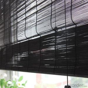 Natural Black Bamboo Fence Black Screen