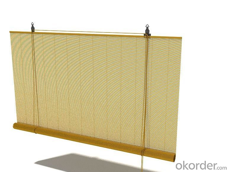Natural Bamboo Garden Screen Pull Curtain