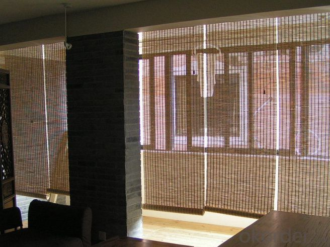 White Natural Bamboo Screen Bamboo Curtain