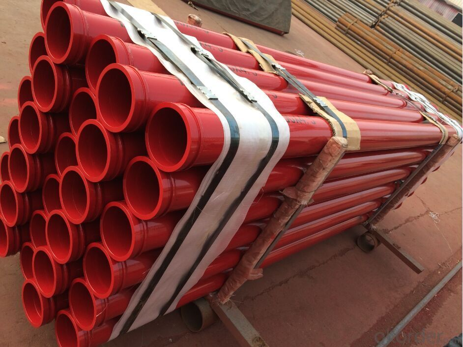 Concrete Pump Truck Parts Delivery Pipe Normal Pipe DN125 1MTR Thick 4.5MM ST52