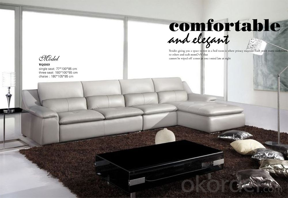 Living Room Furniture of Top Grain Leather