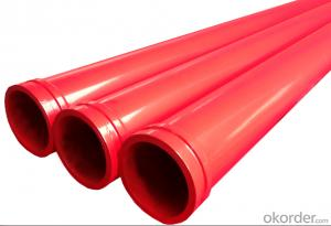 Concrete Pump Truck Parts Delivery Pipe Normal Pipe DN125 2MTR Thick 4.5MM ST52