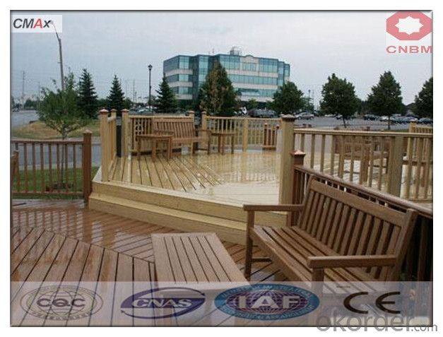 Extruded Plastic Composite Decking with SGS and CE