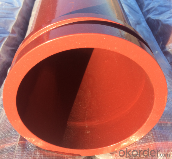 Concrete Pump Truck Parts Delivery Pipe without flange DN125 6MTR Thick 4.1MM ST52
