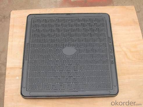 Ductile Cast Iron Manhole Covers GGG40 B125 Bitumen Coating