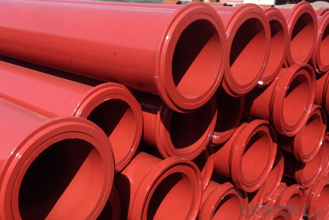 Concrete Pump Truck Parts Delivery Pipe Normal Pipe DN125 2MTR Thick 3.2MM ST52