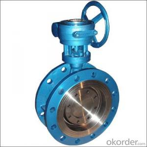 Butterfly Valve Worm Actuated Flange Triple Eccentric Butterfly Valve