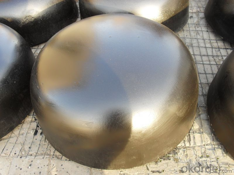 Steel Pipe Fittings Butt-Welding End Caps High Pressure