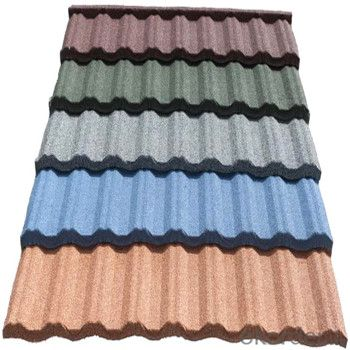Stone Coated Metal Roofing Tile Red Green Blue Grey Algae and Fungi Resistant