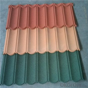 Stone Coated Metal Roofing Tile Colorful 0.4mm Red Green New Product