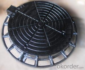 Manhole Covers Ductile Cast Iron Black Bitumen Coating Sanitary