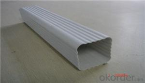 Colored 5.2inch Pvc Rain Gutter / Rainwater Drainage System Supplier