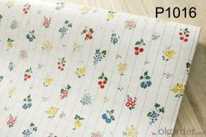 Self-adhesive Wallpaper Supply Various Flower Wallpaper with Best Price and Quality