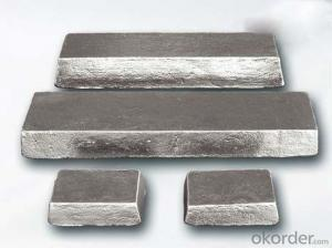 Magnesium Ingot Mg Content 99.9% High Pure
