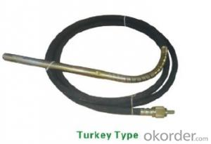 Portable Gasoline/Petrol Concrete Vibrator With Vibrator Hose Shaft Turkey Type