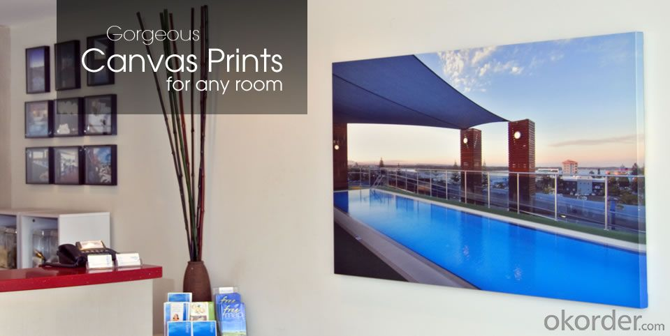 Matte 100% Cotton Canvas Print with Your Photos on It