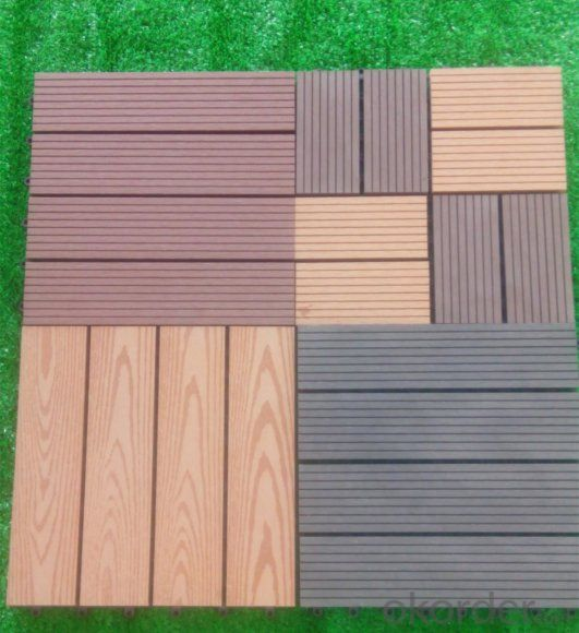 DIY WPC Interlocking Composite Decking Tiles