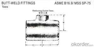 Carbon Steel Pipe Fittings Butt-Welding Reducing Outlet Tees
