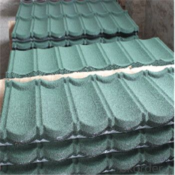 Stone Coated Metal Roofing Tile Heat-Resisting Red Green Blue