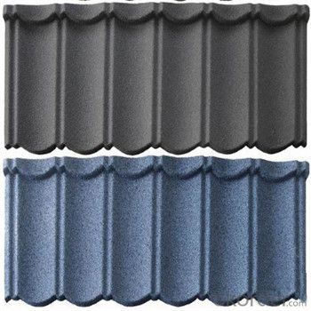 Stone Coated Metal Roofing Tile Red Green Blue Grey Ultraviolet/Corrosion Resistant