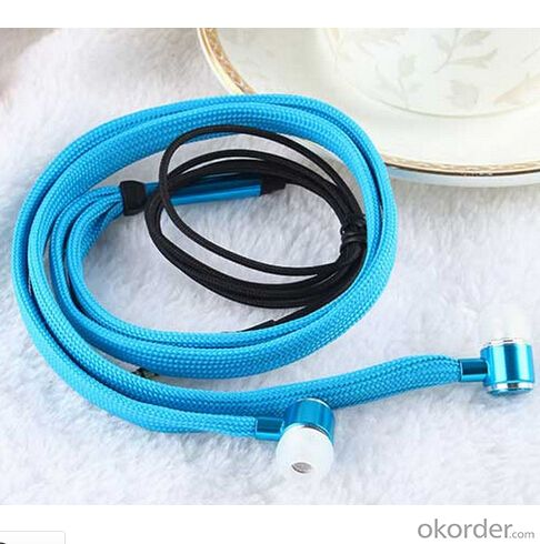 Stereo Wired Earphone Color Shoelace Style Earphone