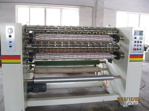 BOPP Jumbo Roll Adhesive Tape Slitting Machine