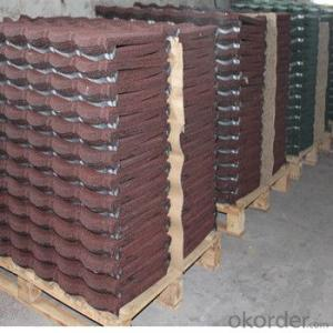 Stone Coated Metal Roofing Tile Colorful Corrosion Resisting  Red Green Factory