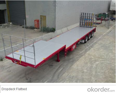 Dropdeck Flatbed Semi Trailer with Good Quality