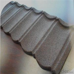 Stone Coated Metal Roofing Tile Heat-Resisting Waterproof Hot Seller Red Windproof