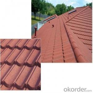 Stone Coated Metal Roofing Tile Heat-Resisting Waterproof  Made in China