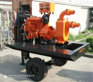 Four Wheel Trailer Diesel Water Pump for Irrigation