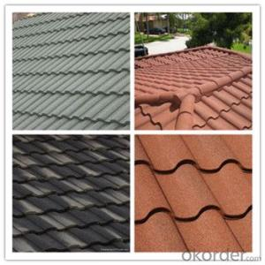 Stone Coated Metal Roofing Tile Colorful Red Green Blue Factory Price